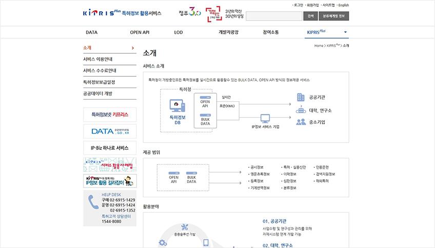 키프리스 플러스 웹사이트 서비스 소개 페이지 이미지